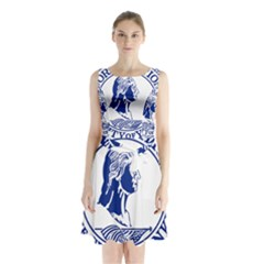 Seal Of Yonkers, New York  Sleeveless Waist Tie Dress
