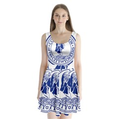 Seal Of Yonkers, New York  Split Back Mini Dress