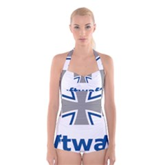 Luftwaffe Boyleg Halter Swimsuit