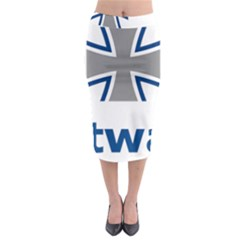 Luftwaffe Midi Pencil Skirt