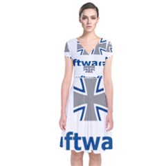 Luftwaffe Short Sleeve Front Wrap Dress