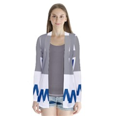 Luftwaffe Drape Collar Cardigan