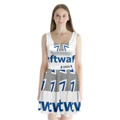 Luftwaffe Split Back Mini Dress