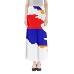 Flag Map Of Armenia  Maxi Skirts