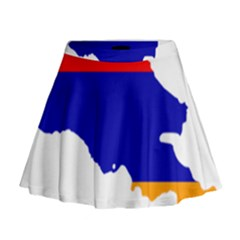 Flag Map Of Armenia  Mini Flare Skirt