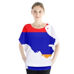 Flag Map Of Armenia  Blouse