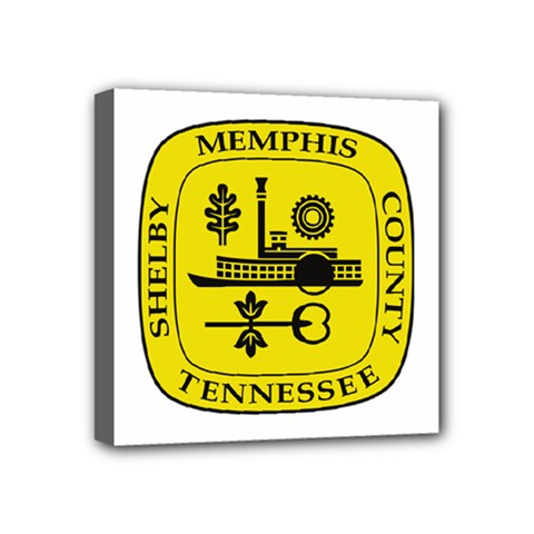 Seal Of Memphis  Mini Canvas 4  X 4