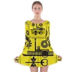 Seal Of Memphis  Long Sleeve Skater Dress