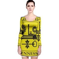 Seal Of Memphis  Long Sleeve Velvet Bodycon Dress