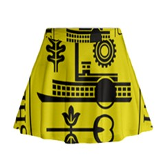 Seal Of Memphis  Mini Flare Skirt