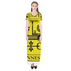 Seal Of Memphis  Short Sleeve Maxi Dress