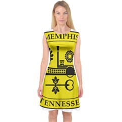 Seal Of Memphis  Capsleeve Midi Dress