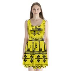 Seal Of Memphis  Split Back Mini Dress