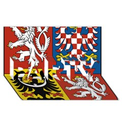 Coat Of Arms Of The Czech Republic PARTY 3D Greeting Card (8x4)