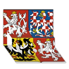 Coat Of Arms Of The Czech Republic Miss You 3D Greeting Card (7x5)
