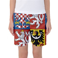 Coat Of Arms Of The Czech Republic Women s Basketball Shorts