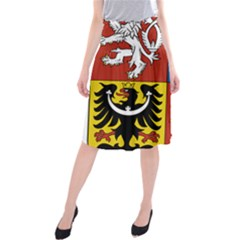 Coat Of Arms Of The Czech Republic Midi Beach Skirt