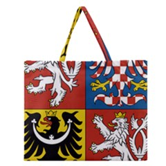 Coat Of Arms Of The Czech Republic Zipper Large Tote Bag