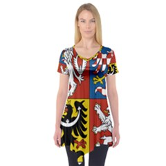 Coat Of Arms Of The Czech Republic Short Sleeve Tunic