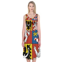 Coat Of Arms Of The Czech Republic Midi Sleeveless Dress