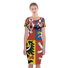 Coat Of Arms Of The Czech Republic Classic Short Sleeve Midi Dress