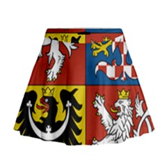 Coat Of Arms Of The Czech Republic Mini Flare Skirt