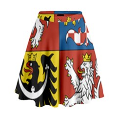 Coat Of Arms Of The Czech Republic High Waist Skirt