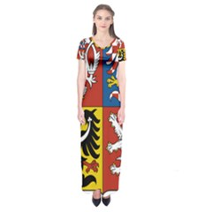Coat Of Arms Of The Czech Republic Short Sleeve Maxi Dress