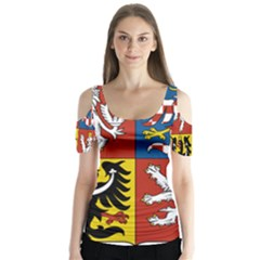Coat Of Arms Of The Czech Republic Butterfly Sleeve Cutout Tee