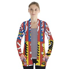 Coat Of Arms Of The Czech Republic Women s Open Front Pockets Cardigan(p194)