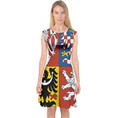 Coat Of Arms Of The Czech Republic Capsleeve Midi Dress