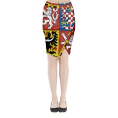 Coat Of Arms Of The Czech Republic Midi Wrap Pencil Skirt