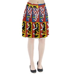 Coat Of Arms Of The Czech Republic Pleated Skirt