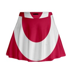Emblem Of Okinawa Prefecture Mini Flare Skirt