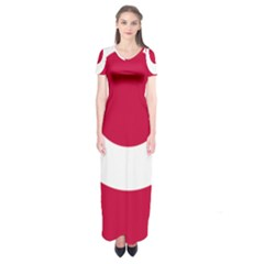 Emblem Of Okinawa Prefecture Short Sleeve Maxi Dress