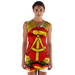 National Emblem Of East Germany  Wrap Front Bodycon Dress
