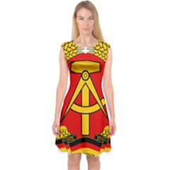 National Emblem Of East Germany  Capsleeve Midi Dress