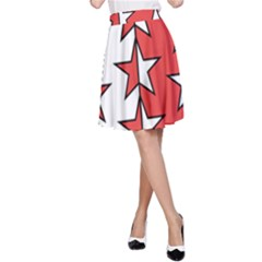 Coat Of Arms Of Valais Canton A-Line Skirt