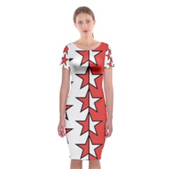 Coat Of Arms Of Valais Canton Classic Short Sleeve Midi Dress