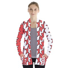 Coat Of Arms Of Valais Canton Women s Open Front Pockets Cardigan(P194)