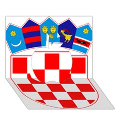 Coat Of Arms Of Croatia Apple 3d Greeting Card (7x5)
