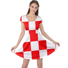 Coat Of Arms Of Croatia Cap Sleeve Dresses