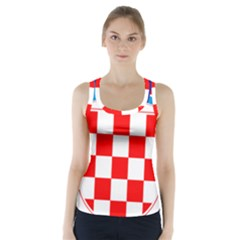 Coat Of Arms Of Croatia Racer Back Sports Top