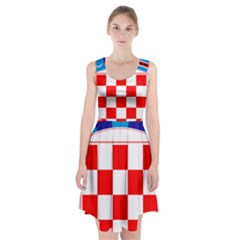 Coat Of Arms Of Croatia Racerback Midi Dress