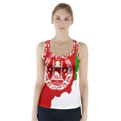 Flag Map Of Afghanistan Racer Back Sports Top