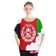 Flag Map Of Afghanistan Blouse