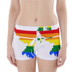 Lgbt Flag Map Of Maryland  Boyleg Bikini Wrap Bottoms
