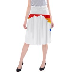 Lgbt Flag Map Of Maryland  Midi Beach Skirt