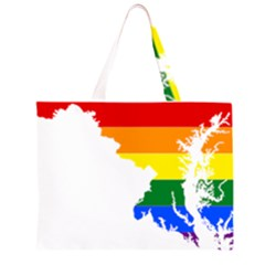 Lgbt Flag Map Of Maryland  Large Tote Bag