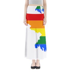 Lgbt Flag Map Of Maryland  Maxi Skirts